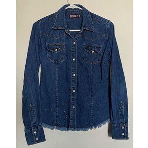 Vintage Denim CO Studded Jean Jacket